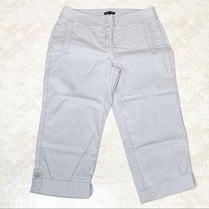 Eileen Fisher Gray Crop Capri Pants Size Small